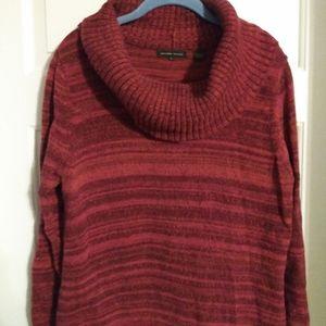 Jeanne Pierre red marled yarn sweater size L